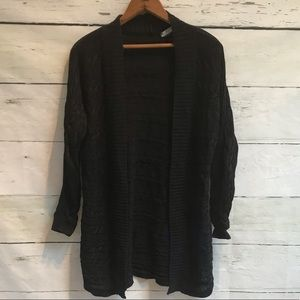 Lauren Ralph Lauren black cable knit cardigan sz L